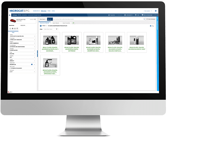 Electronic Parts Catalogue Feature - Service and Repair